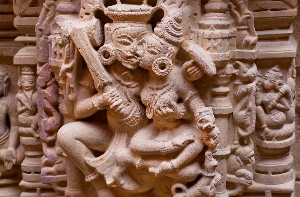 Hindu Gods Kissing